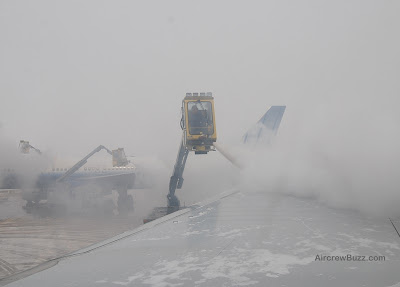De-icing at Denver International Airport