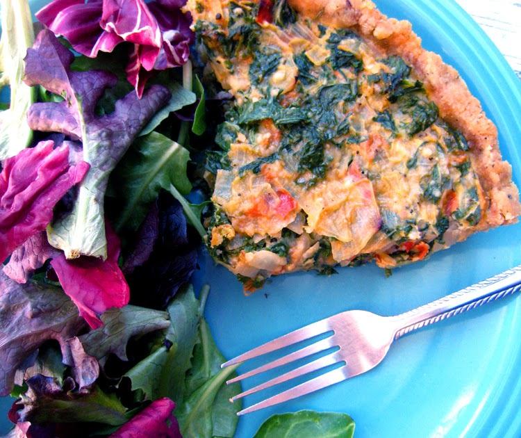 Spicy Bohemian: Kale and Sun-Dried Tomato Tart with Almond Herb Crust