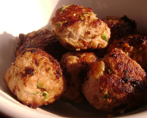 Celiac Shiksa: GF Turkey Zucchini Meatballs
