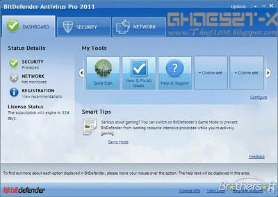 BitDefender Antivirus Pro 2011+Crack