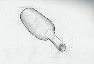 Dibujo 1 Botellas en perspectiva