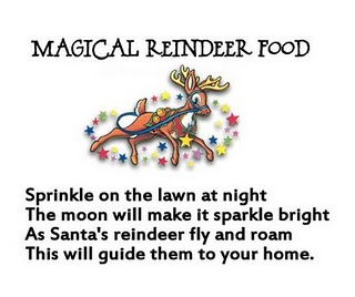 reindeer trampling all over your house there are lots of reindeer food ...