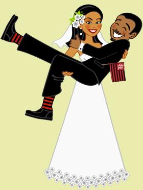 Mais uma ilustração para casamento saindo do forno!