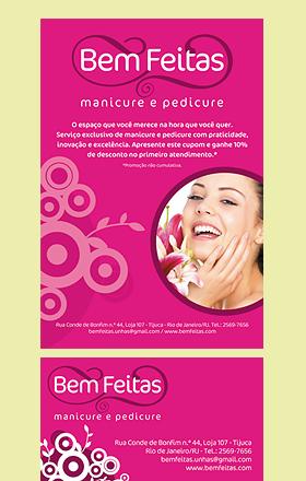 Criação de Logomarca, cartão de visita, folder, letreiro e camiseta para a marca BEM FEITAS