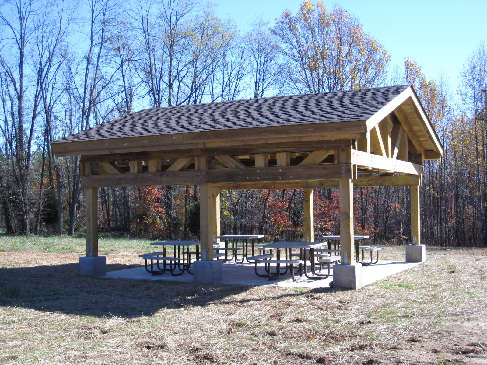 picnic shelter woodworking plans and information at