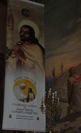 Canonización de Juan Diego por el Papa Juan Pablo II