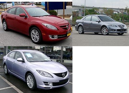 Maxima de Nissan, la Camry de Toyota et Honda Accord et Mazda6(Mazda Atenza)