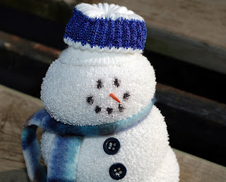 smiley handmade snowman