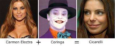 Matemática dos Famosos - Carmen Electra + Coringa (Batman) =  Daniela Cicarelli
