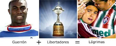 Matemática dos Famosos - Guerrón + Libertadores = Lágrimas