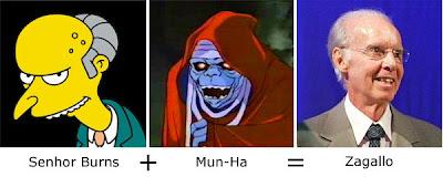 Matemática dos Famosos - Senhor burns + Mun-Ha = Zagallo