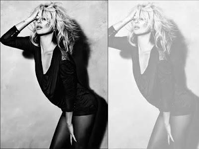 Kate Moss sexy em campanha outono-inverno