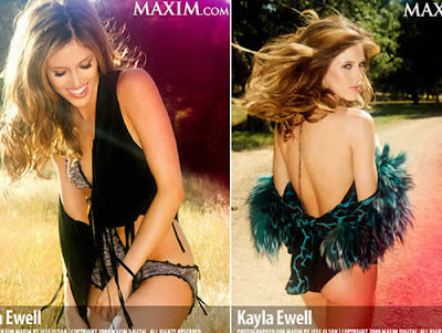 Maxim: Kayla Ewell em Ensaio Sensual
