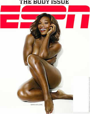 Serena Williams nua na ESPN The Magazine