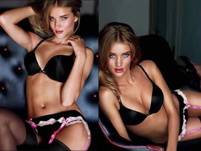 Rosie Huntington de lingerie da Victoria's Secret