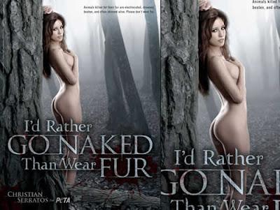 Christian Serrators pelada para campanha do PETA