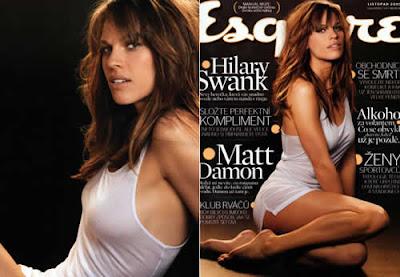 Hilary Swank: Ensaio sensual na Esquire
