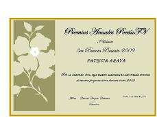 Premios Poesia TV a Patricia Araya
