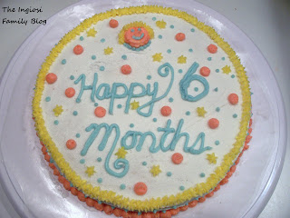 Practice Cake Celebrating Livs 6 Month Birthday Can You Tell That I Learned Stars Dots And Faces Week