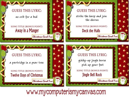Christmas Catch Phrase Game images