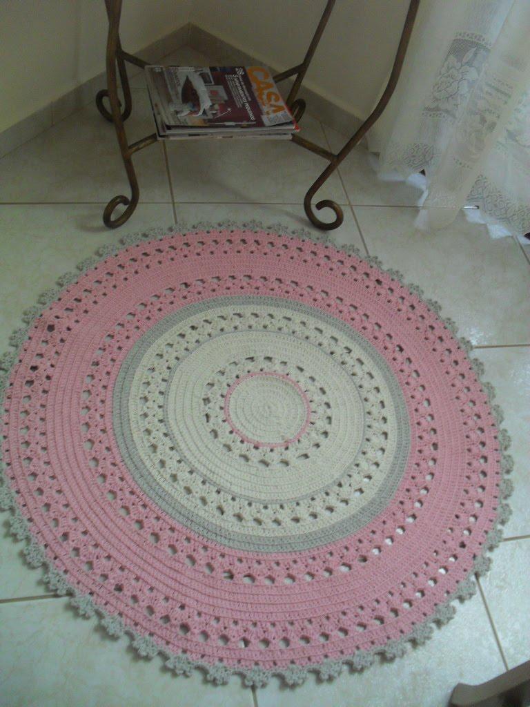 marcia sartori crochetando Tapete Redondo Rosa ~ Tapete Para Quarto De Bebe De Croche