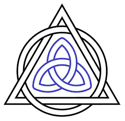 Triquetra tattoo on here. For Christians combines the symbol for eternity with the symbol