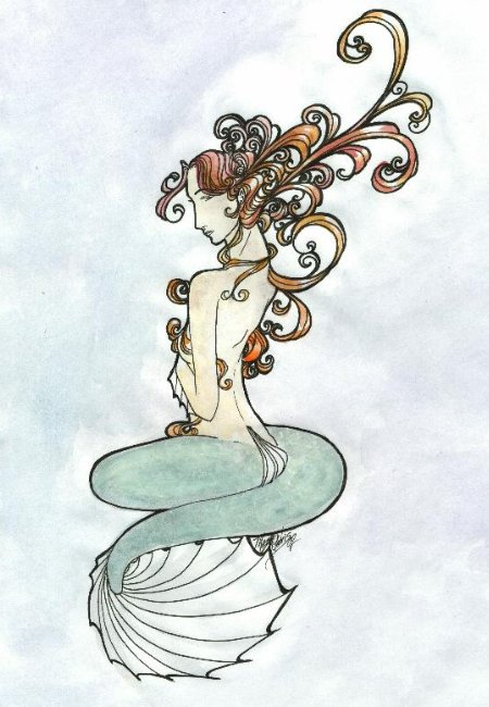 art nouveau artists. Googling mermaid art for