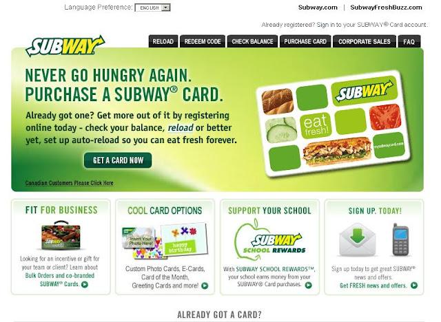www.Mysubwaycard.com - Check My Subway Card Balance Online
