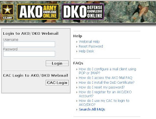 AKO Webmail Login  - Webmail.us.army.mil