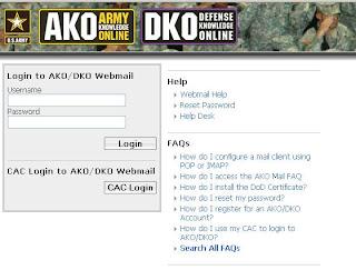 AKO Webmail Login  - Webmail.us.army.mil
