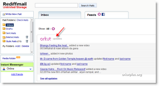 How to Get Orkut Updates in Your Rediffmail Inbox?