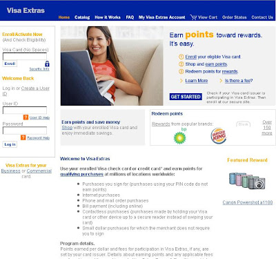 www.Visaextras.com : Login to Visa Extras Account for Rewards & Points