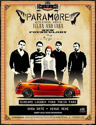 Paramore Summer 2010 Honda Civic tour dates announced