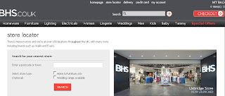BHS Store Locator Usage Guide: How to Search BHS store locations?