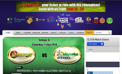 www.clt20.com - Champions League Twenty20 Live Score, Ranking, Results & Highlights