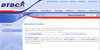 DTDC Courier Tracking: Domestic & International tracking by number