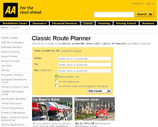 Using The AA's Classic Route Planner for UK - aa map route planner
