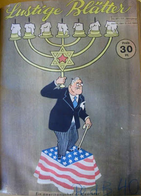 President Roosevelt as Rosenfeld Star of David
