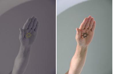 מגן דוד על כף היד