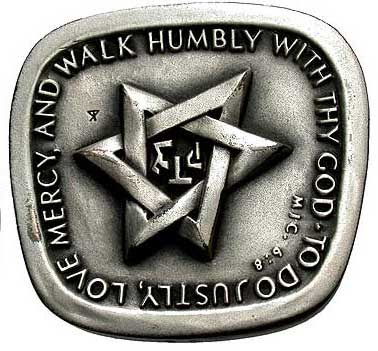 Star of David and the word tzeddek
