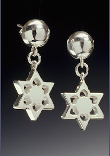Earings jewish star