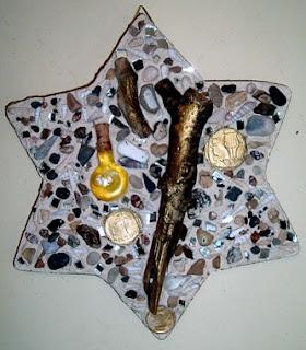 Israeli art Jewish star