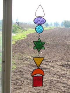 צ'אקרת הלב הירוקה בצורת מגן דוד