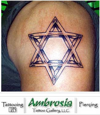 magen david tattoo 1 star sign tattoos