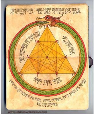 Tetraktys hexagram Ourobouros