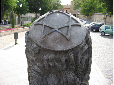 Star-of-David-statue-spain art