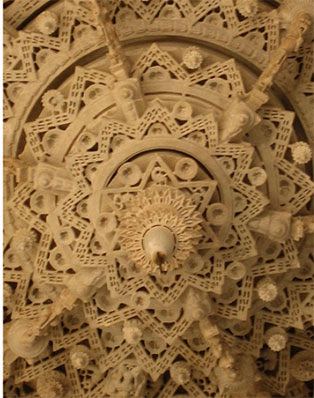 amazing  ornate sculptured hexagram