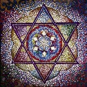 אמנות ישראלית שושן סמל מגן דוד