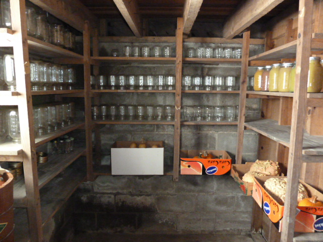 we have all our canning jars stored in there now cats are no longer