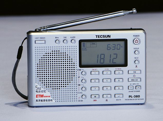 Silver TECSUN PL-380 FM Stereo//SW//MW//LW With ETM Function DSP World Band Radio